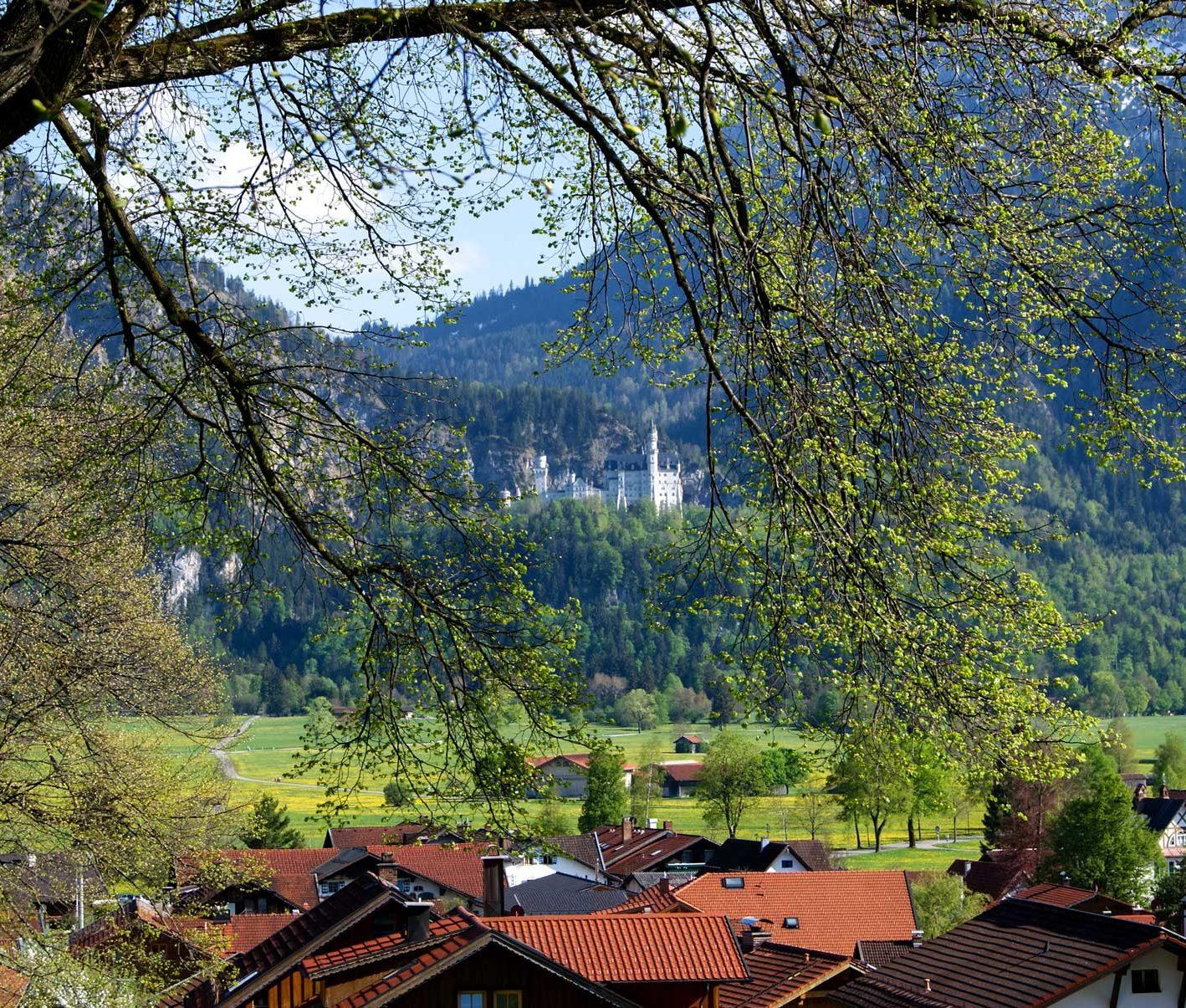Über die Dächer von Schwangau